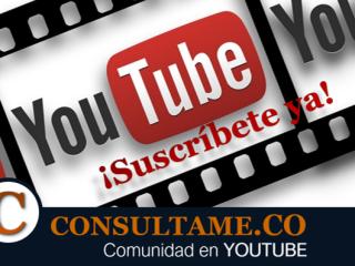 Suscríbete a Consultame.CO en Youtube