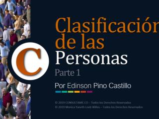 Clasificación de las Personas - Parte 1 - VIDEO