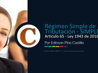 Régimen Simple de Tributación – SIMPLE - Ley 1943 de 2018 - Video